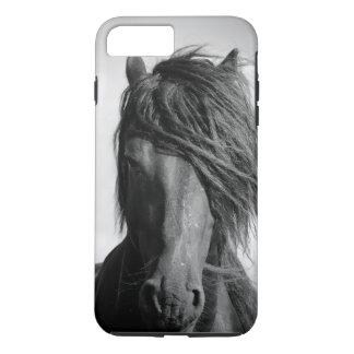 2頭のFriesianの種馬 iPhone 8 Plus/7 Plusケース
