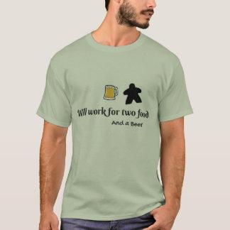 2食糧およびビール Tシャツ