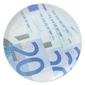 20のヨーロッパの手形-お金の芸術 プレート