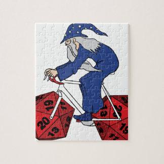 20の味方されたサイコロの車輪が付いている魔法使いの乗馬のバイク ジグソーパズル