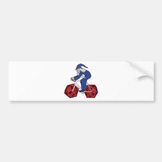 20の味方されたサイコロの車輪が付いている魔法使いの乗馬のバイク バンパーステッカー