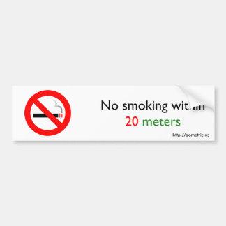 20メートル以内に禁煙 バンパーステッカー