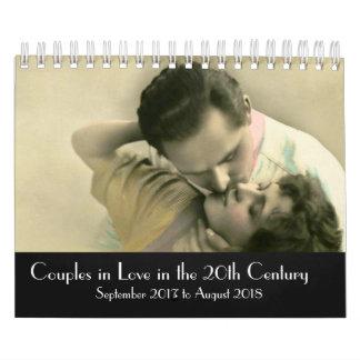 20世紀な2017-2018年に愛のカップル カレンダー