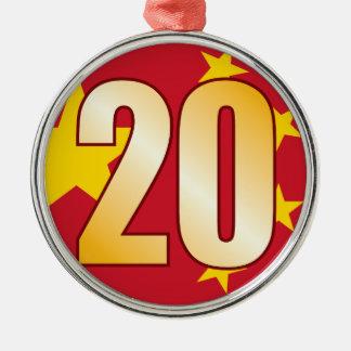 20中国の金ゴールド メタルオーナメント