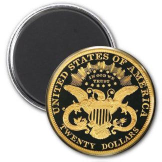 $20二重ワシの硬貨 マグネット