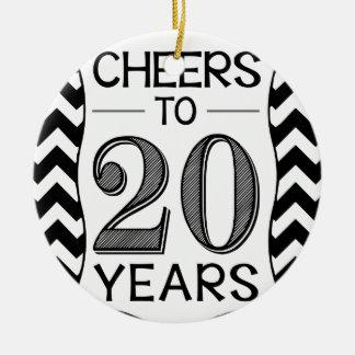 20年への応援 セラミックオーナメント