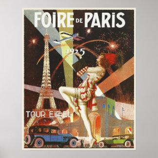 20年代からのパリアール・デコのプリントが付いているポスター ポスター