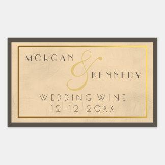 20年代のもぐり酒場DIYの結婚式のヴィンテージのワインのラベル 長方形シール