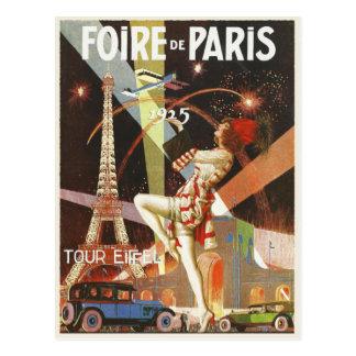 20年代のパリのアールデコのプリントが付いている郵便はがき ポストカード