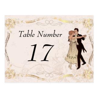20年代のヴィンテージのテーブル数カード ポストカード