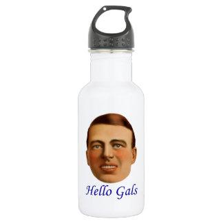 20年代のヴィンテージの絵-こんにちはGals ウォーターボトル