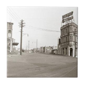 20年代のヴィンテージの通りの写真 タイル