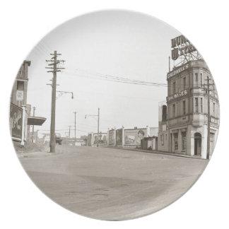 20年代のヴィンテージの通りの写真 プレート