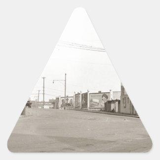 20年代のヴィンテージの通りの写真 三角形シール