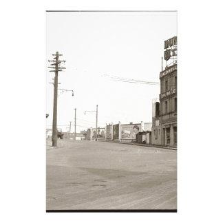 20年代のヴィンテージの通りの写真 便箋