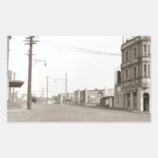 20年代のヴィンテージの通りの写真 長方形シール