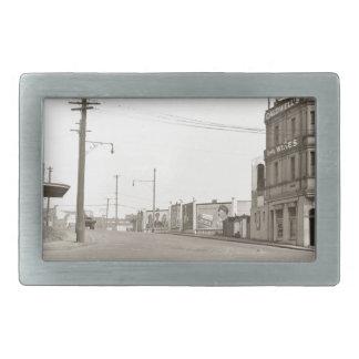 20年代のヴィンテージの通りの写真 長方形ベルトバックル