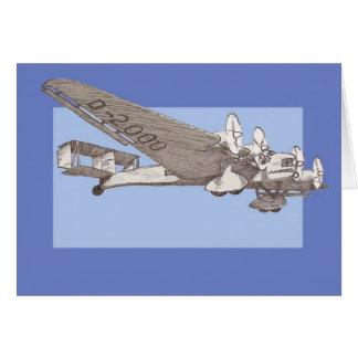 20年代の定期旅客機のぽんこつ自動車G-38 カード