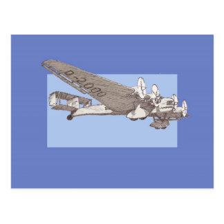 20年代の定期旅客機のぽんこつ自動車G-38 ポストカード