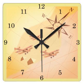 20年代の砂漠飛行柱時計 スクエア壁時計