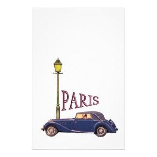 20年代の自動車-パリ 便箋