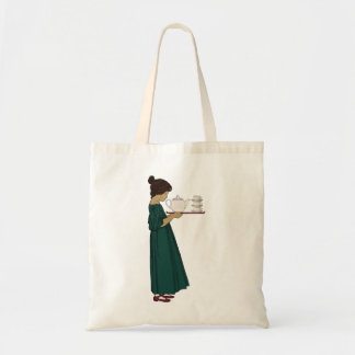 20年代の茶女の子Totebag トートバッグ