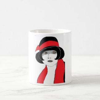 20年代の赤のリボン コーヒーマグカップ