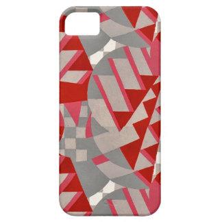 20年代のDecoの赤い/灰色のデザイン iPhone SE/5/5s ケース