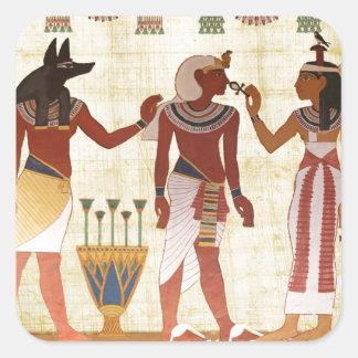 20正方形のステッカーの古代エジプトの墓絵画 スクエアシール