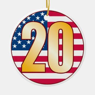 20米国の金ゴールド セラミックオーナメント