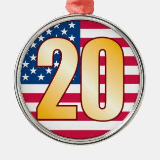 20米国の金ゴールド メタルオーナメント