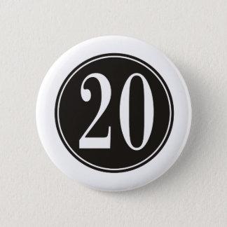 #20黒い円(前部) 5.7CM 丸型バッジ