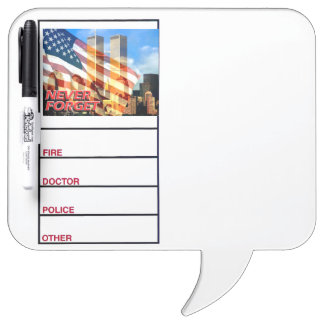 2001年を9月11日テロリスト攻撃覚えて下さい ホワイトボード