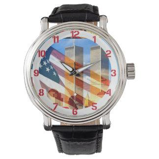 2001年を9月11日テロリスト攻撃覚えて下さい 腕時計