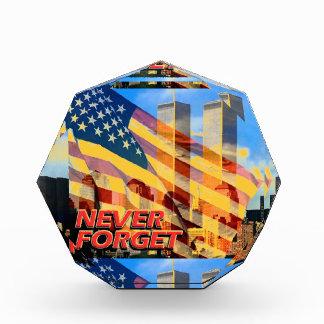 2001年を9月11日テロリスト攻撃覚えて下さい 表彰盾