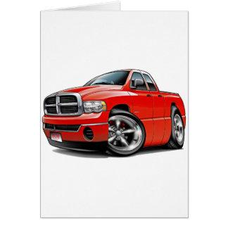 2003-08ラムのクォードの赤のトラック カード