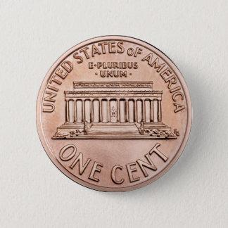 2005年のリンカーン記念館1つのセントの銅貨のお金 缶バッジ
