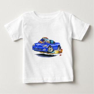 2005-10年のコルベットの青いコンバーチブル ベビーTシャツ