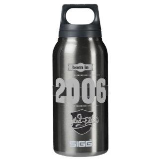 2006年に生まれて下さい(Light&Darkgrey) 断熱ウォーターボトル