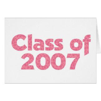 2007ピンクのクラス カード