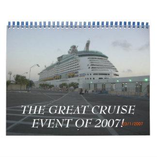 2007年の素晴らしい巡航のイベント! カレンダー