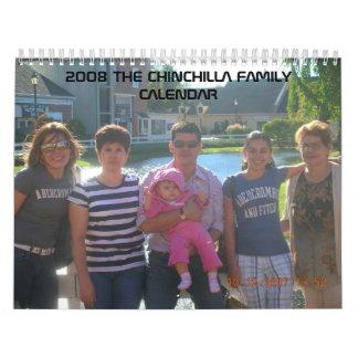 2008チンチラ家族のカレンダー カレンダー