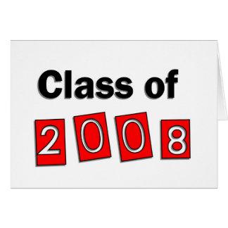 2008年のクラス カード