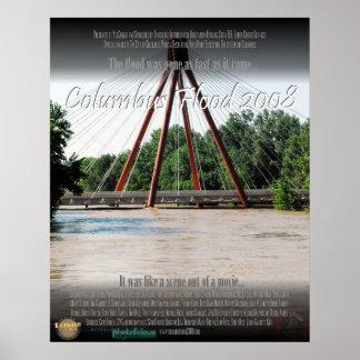 2008年のポスターのコロンブスインディアナの洪水 ポスター