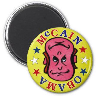 2008年のMcCainまたはオバマのリバーシブルの磁石 マグネット