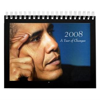 2008年、変更の年-バラック・オバマのカレンダー カレンダー