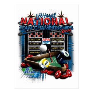 2009の全国代表チーム選手権 ポストカード