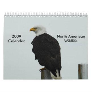 2009人の北米人の野性生物のカレンダー カレンダー
