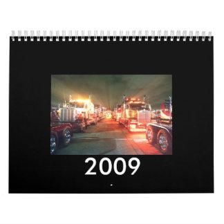 2009台のトラックのカレンダー カレンダー