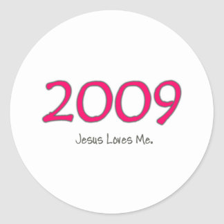 2009年のイエス・キリストは女の子のための私を愛します ラウンドシール